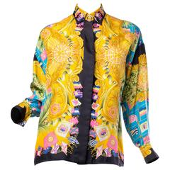 Gianni Versace Couture Women's Printed Silk Blouse