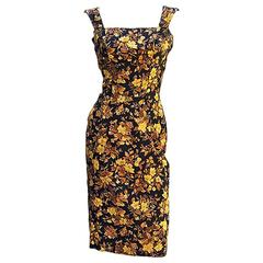 50s Estevez Floral  Damask Dress
