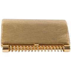 1960s Rare Gold Tone Rodo Clutch