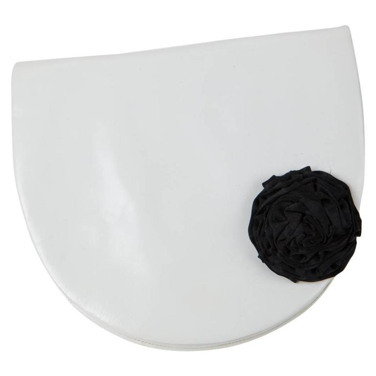 White Andrea Pfister Leather Clutch