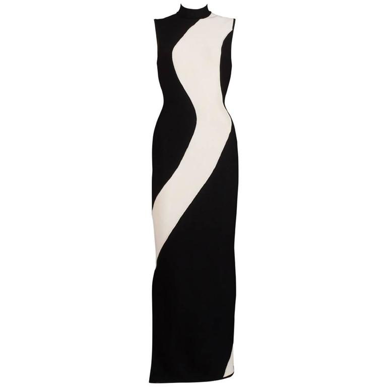 Herve Leger bias cut bandage evening dress, Circa 1996 1
