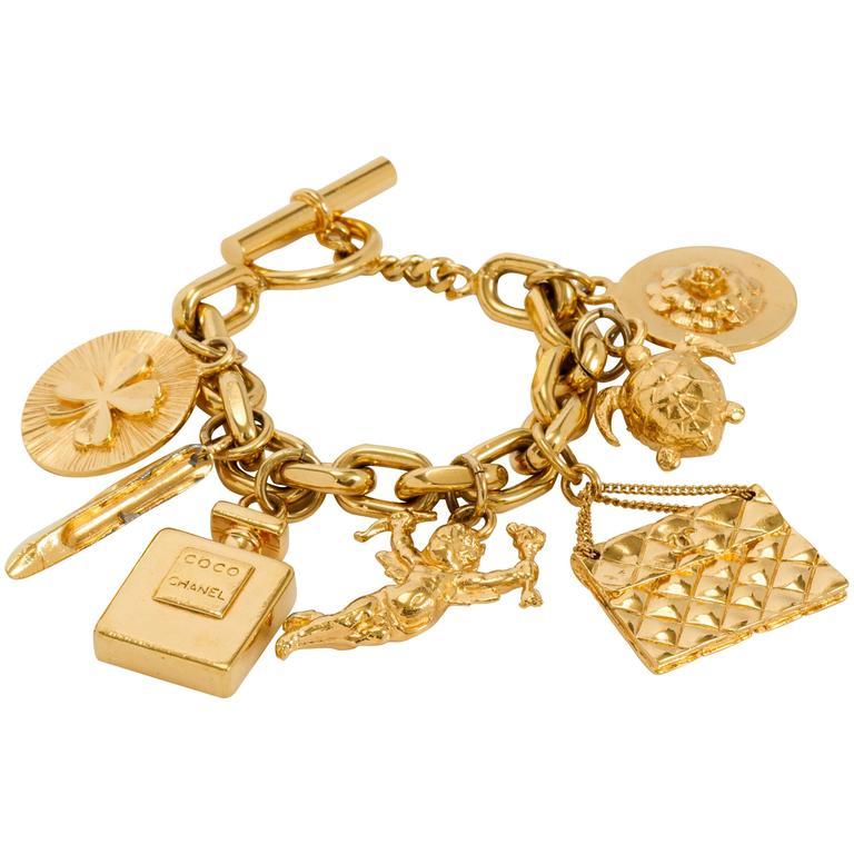 1970's Chanel Iconic Charm Bracelet 1