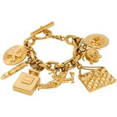 1970's Chanel Iconic Charm Bracelet