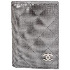 Chanel Metallic Quilted CC Wallet