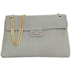 Chanel Reissue Grey Iridescent Quilted Leather Flap Bag GHW