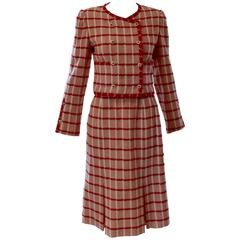 1960s Chanel Two Piece Skirt Suit