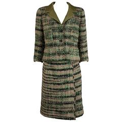 Chanel Haute Couture tweed skirt suit, Circa 1960s