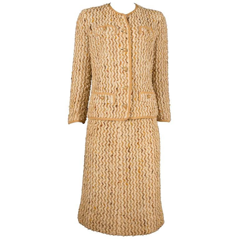 Chanel haute couture tweed skirt suit circa 1960s at 1stdibs for 1960 s haute couture