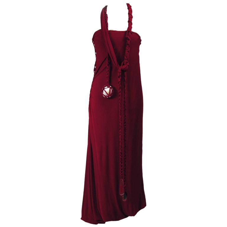 1990s Jean Paul Gaultier Jersey Strapless Dress For Sale