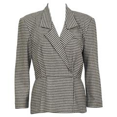 1980's Michael Kors First Collection Houndstooth Top