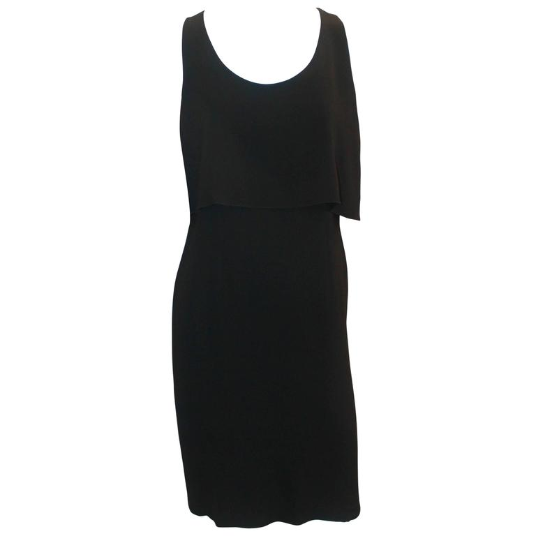 Chanel Black Silk Sleeveless Dress - 36 - 07A For Sale