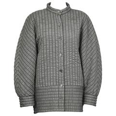1980's Laura Biagiotti Batwing Gray Quilted Jacket
