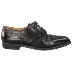 John Lobb Darby Men's Black Leather Wingtip Lace Up, Size 10.5