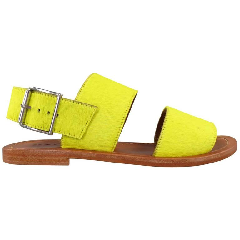 metallic trim sandals - Yellow & Orange Marni 6wg9f3WU