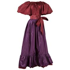 Yves Saint Laurent silk taffeta evening ensemble, circa 1978-79