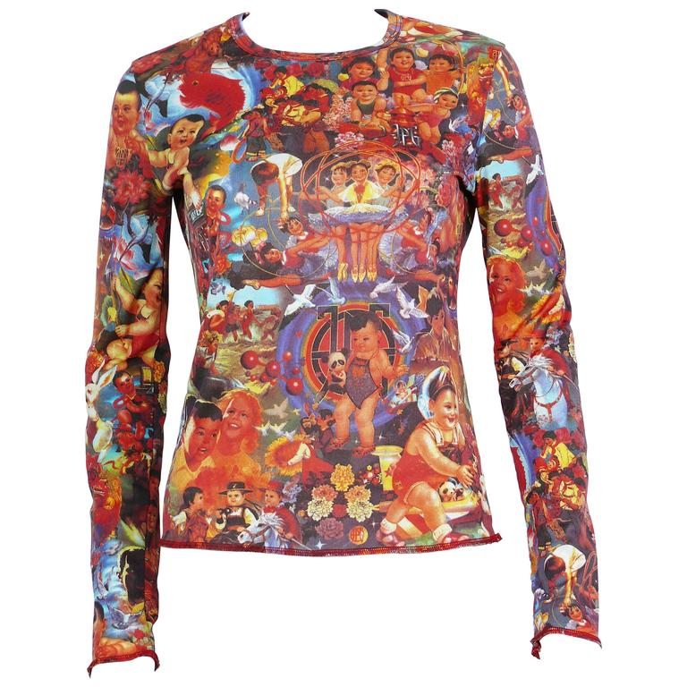 Jean Paul Gaultier Vintage Chinese Children and Babies Propaganda Top