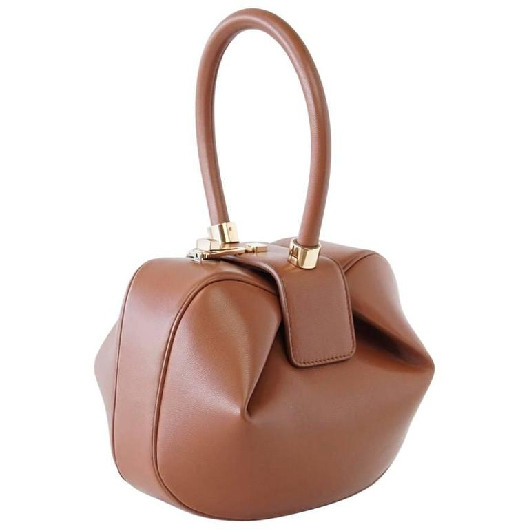 Gabriela Hearst Nina Bag Cognac Calf Leather Limited Edition Very Rare For Sale