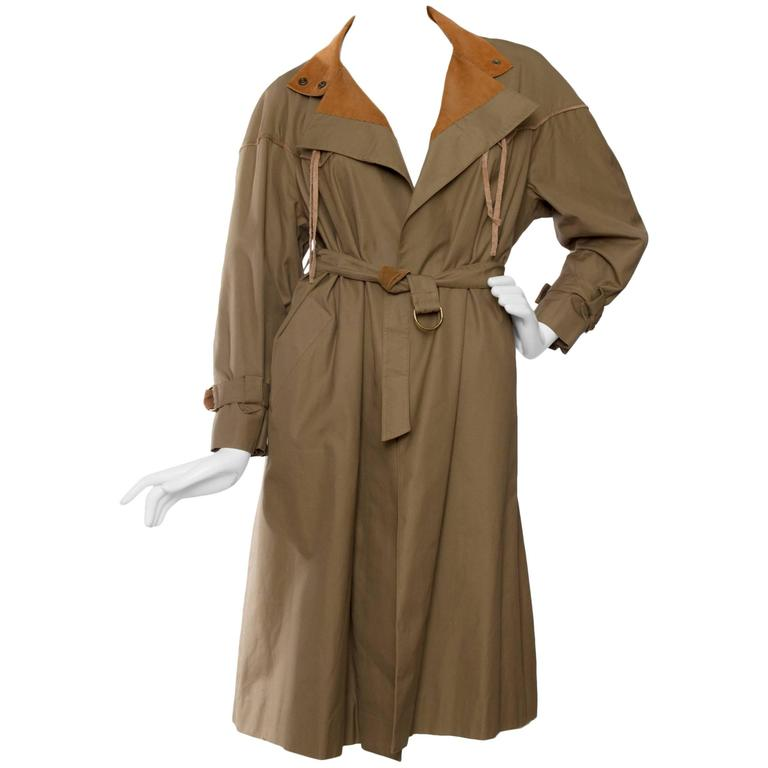 1980s Claude Montana Trench Coat