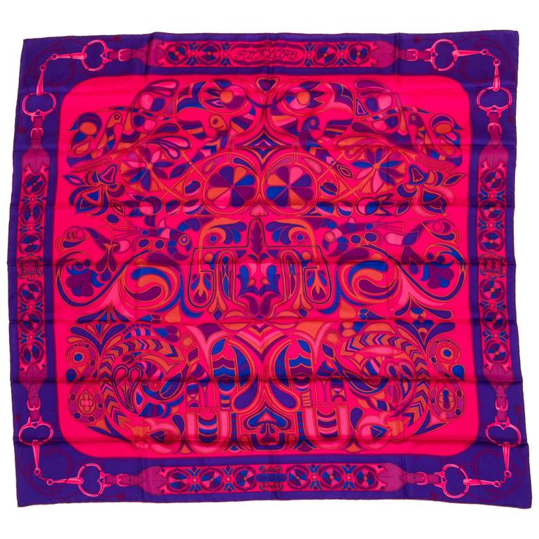 Hermès Folklore Shawl, D'Origny For Sale