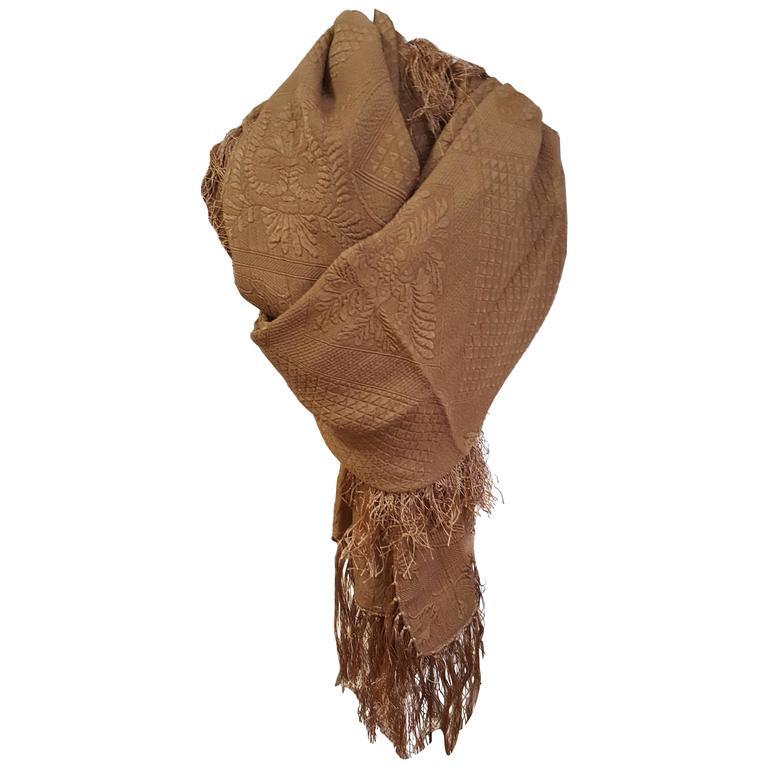 Amazing Armani Textured Silk Shawl For Sale
