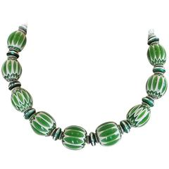 Masha Archer Green Season Beaded Necklace