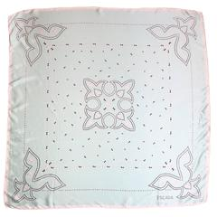 Escada Mint Pearl Pattern Printed Silk Scarf