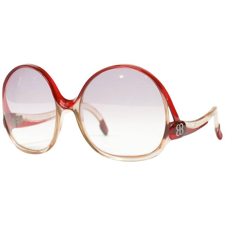 1970s Balenciaga Oversized Sunglasses model 7697 1