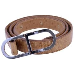 Hermes Victoria Belt. Steel buckle. Size 80