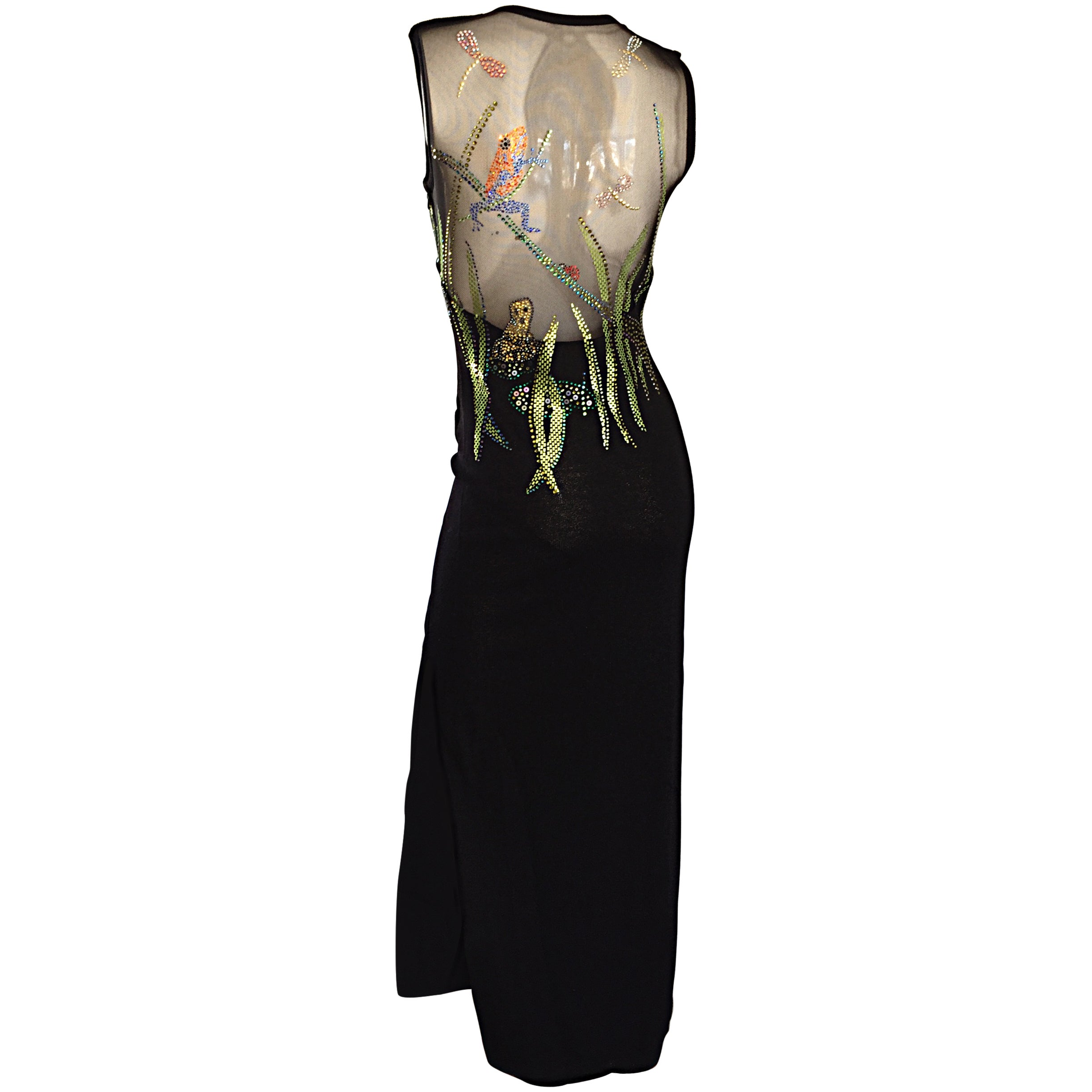 d197006c2565 St John Couture Marie Gray ' Dragonflies and Frogs