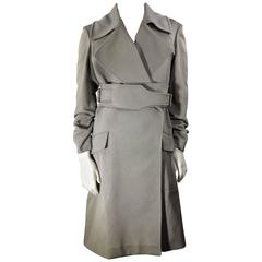 Gucci Grey Belted Trench Coat