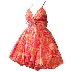 Rare Norman Norell Bubble Dress Ensemble ca.1960