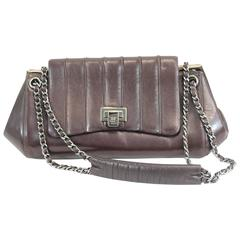 Chanel Brown Leather Small Shoulder Shopping Bag