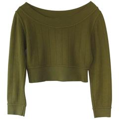 Vintage Alaia Cropped Midriff Sweater