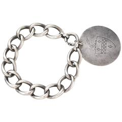 Men's Antique Sterling Knight Bracelet