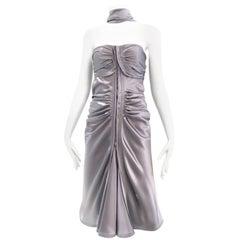 Yves Saint Laurent by Tom Ford Grey silk Charmeuse Cocktail Dress
