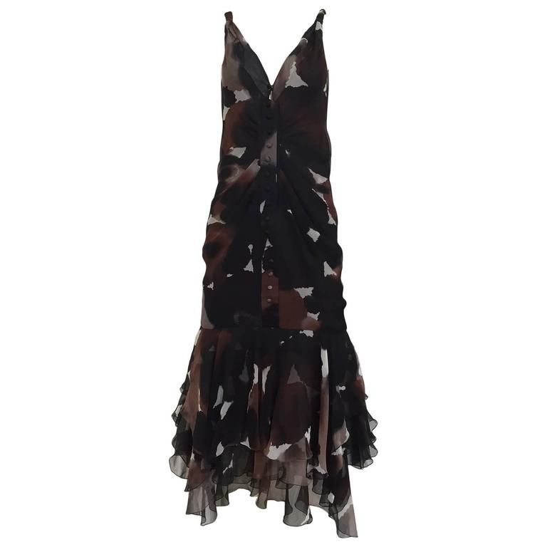 J Mendel silk chiffon print dress