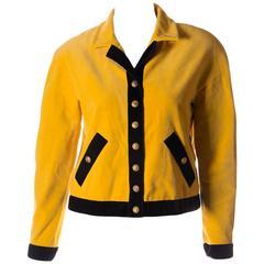 Chanel Velvet Bomber Jacket
