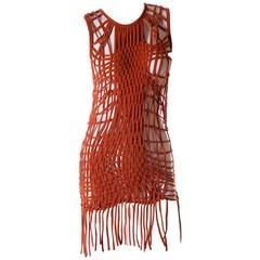 Jean Paul Gaultier Macrame Fringe Dress