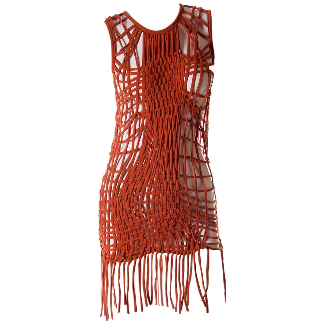 macrame dresses jean paul gaultier macrame fringe dress at 1stdibs 591