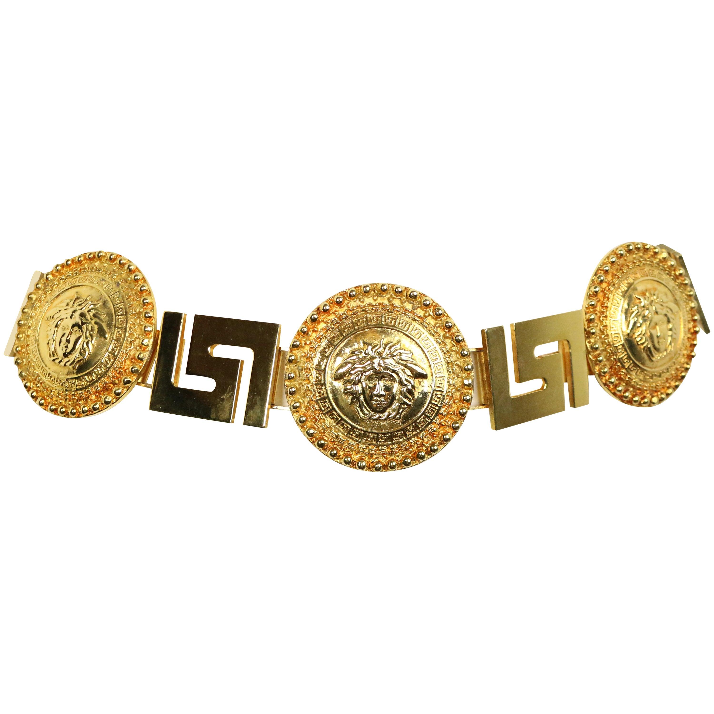59c29fe72c Gianni Versace Medusa Gold Chain Belt For Sale at 1stdibs