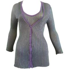 M. Missoni Twin Set with Sleeveless Top (44 ITL)