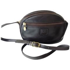 Celine Vintage Brown Leather Crossbody Handbag