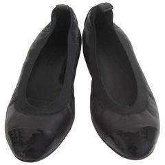 Chanel Cap Toe Ballet Flats NIB Size 38.5