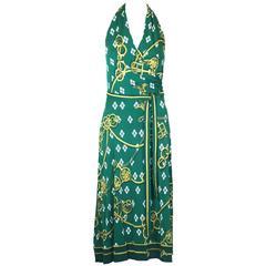 Hermes Silk Jersey Halter Dress