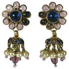 Chanel Anglo Indian Tiered Maison Gripoix Earrings