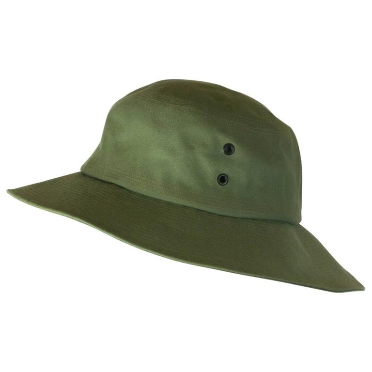 Yves Saint Laurent Green Twill Fisherman's Hat For Sale