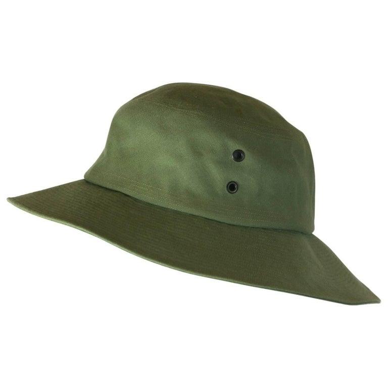 Yves Saint Laurent Green Twill Fisherman's Hat For Sale