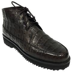Walter Steiger Crocodile Leather Ankle Boots 37