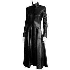 Free Shipping: Tom Ford YSL Rive Gauche FW2001 Collection Leather Runway Coat