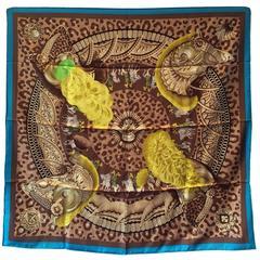 Hermes Vintage Casques et Plumets Silk Scarf